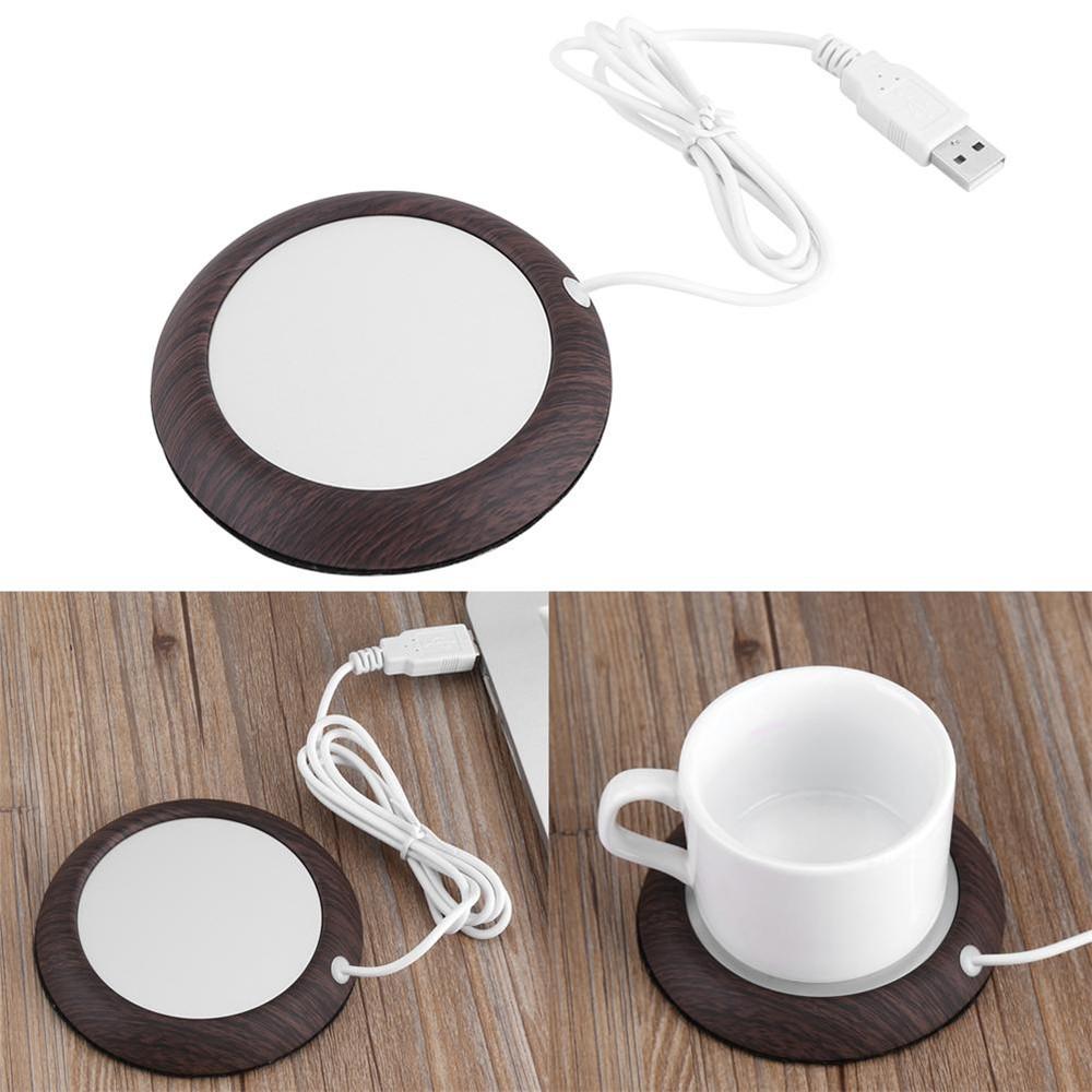 Coffee Mug Warmer Cup Warmer Pad Usb Wood Grain Warmer Pad