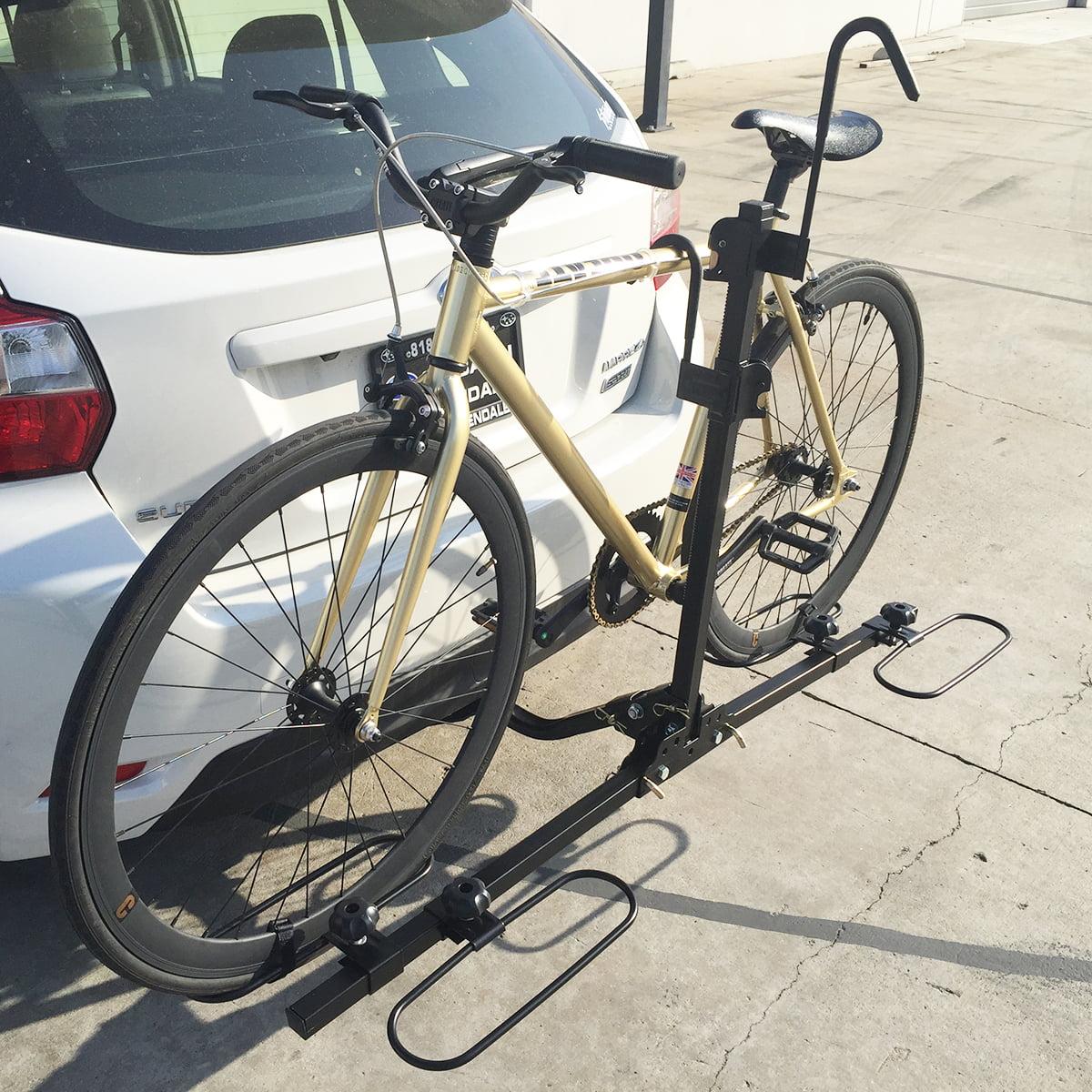 "Heavy Duty 2 Bike Bicycle 1.25"" & 2"" Hitch Mount Carrier Platform Rack Truck SUV"