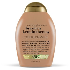 OGX Ever Straightening + Brazilian Keratin Therapy Conditioner, 13 FL OZ