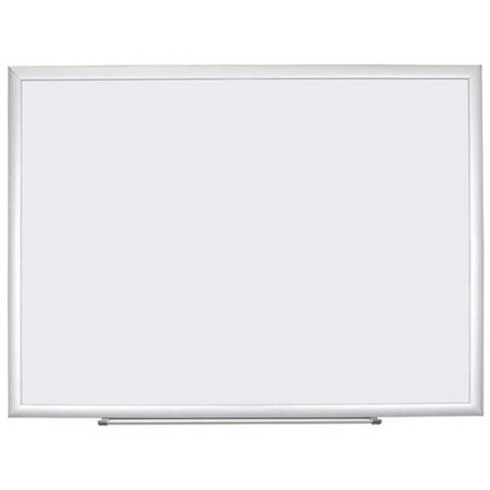 U Brands Melamine Dry Erase Board, Silver Aluminum Frame - Lined Dry Erase Board