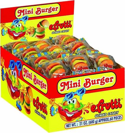 E-Frutti Gummy Burgers, (Pack of 60) by gummi hamburgers