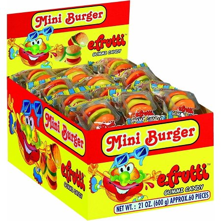 E-Frutti Gummy Burgers Candy, 60 Count - Funny Gumby