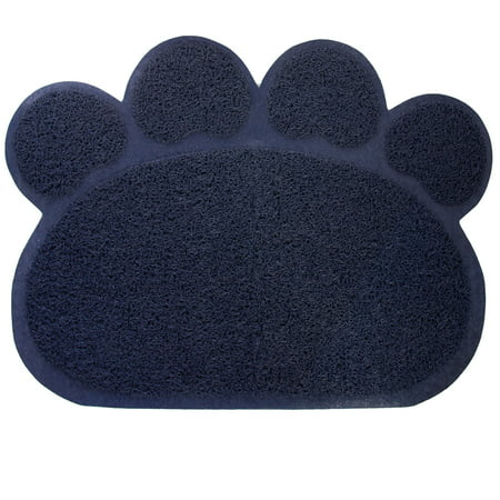 Home Fashions Paw Print Cat Litter Mat - Kitty Paw