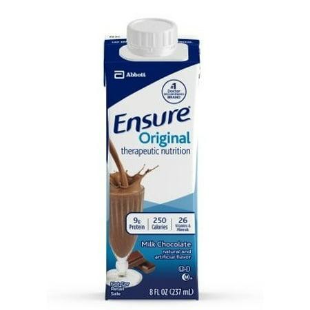 Milk Cartons For Halloween (Ensure Original Milk Chocolate, 8 Ounce Recloseable Carton, Abbott 64937 - Case Of)