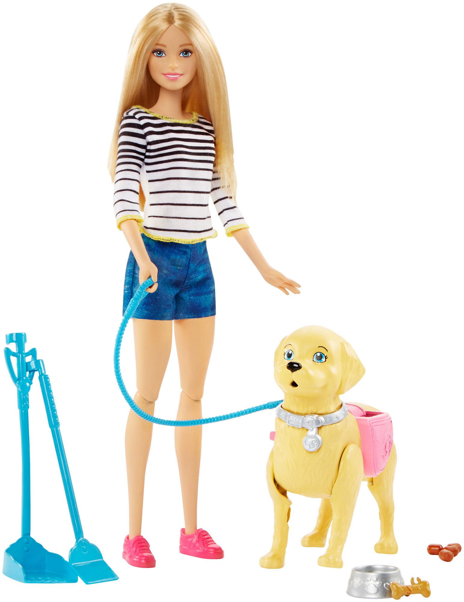 Barbie Walk & Potty Pup Doll by Mattel