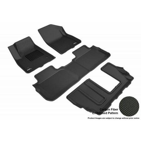 Astounding 3D Maxpider 2017 2019 Gmc Acadia 2Nd Row Bench Seat 1St Row 2Nd Row 3Rd Row Kagu Carbon Fiber Embossed Pattern Black Floor Mat L1Gm02101509 Short Links Chair Design For Home Short Linksinfo