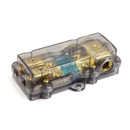 Plastic S Car Audio 60A 1 in 2 Out Inline ANL Fuse Holder ... on atc fuse box, amp fuse box, hyundai fuse box, agc fuse box,