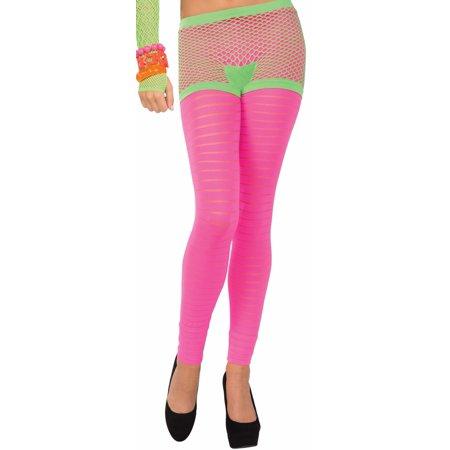Club Candy Neon Fishnet Costume Boy Shorts Adult: Green