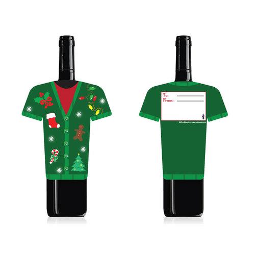 Wine Wear B008 Christmas Sweater Wine Bottle Wear