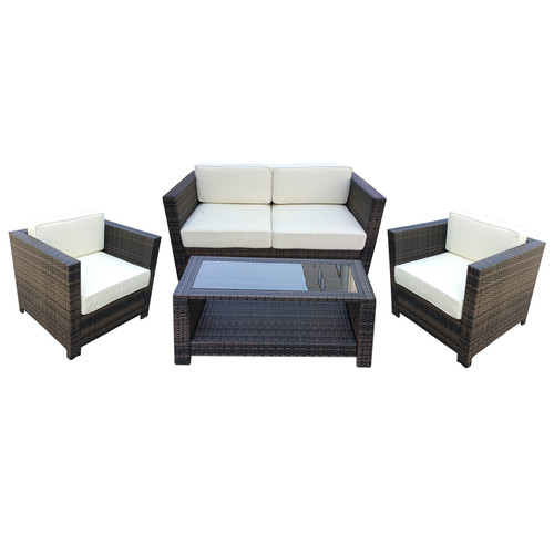Attraction Design Home 4 Piece Sofa Set with Cushions