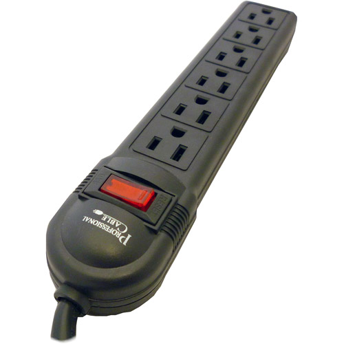 Professional Cable 6-Outlet Surge Protector