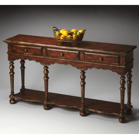 Butler Console Table - Tobacco Leaf