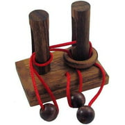 Double Posts - String Wooden Puzzle Brain Teaser