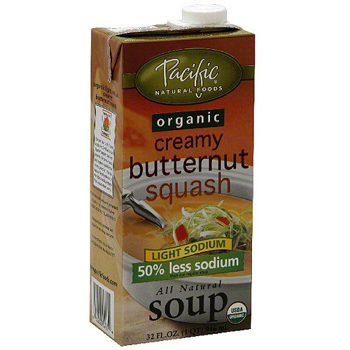 Pacific Natural Foods Light Sodium Creamy Butternut Squash Soup, 32 oz (Pack of 12)