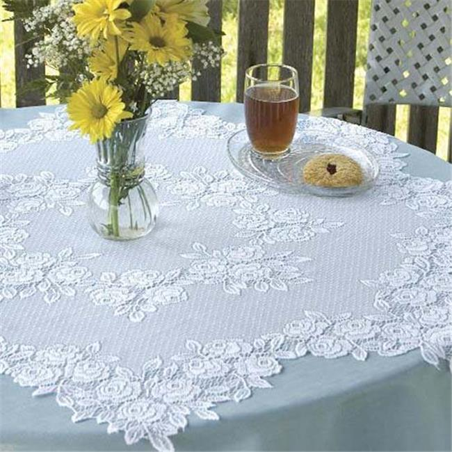 42 In. Tea Rose Round Table Topper