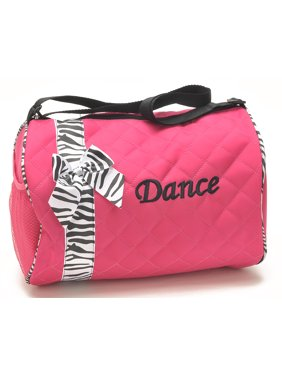 524d416cc536 Product Image 1PerfectChoice Girls Dance Duffle Bag Kids Quilted Ribbon  Polka Dots Black Totes Bag