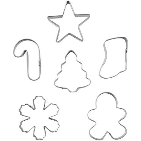 Mini Metal Cookie Cutter Set 6/Pkg-Wreath