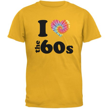 I Heart The 60s Gold Adult T-Shirt