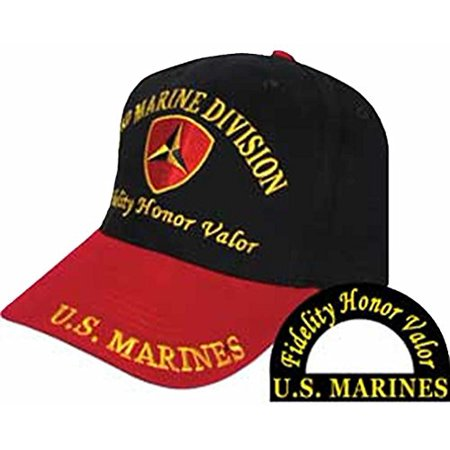 U.S. MARINE CORPS USMC 3RD MARINE DIVISION FIDELITY HONOR VALOR Direct  Embroidered Hat - Color - Veteran Owned Business - Walmart.com b65ee8306c34