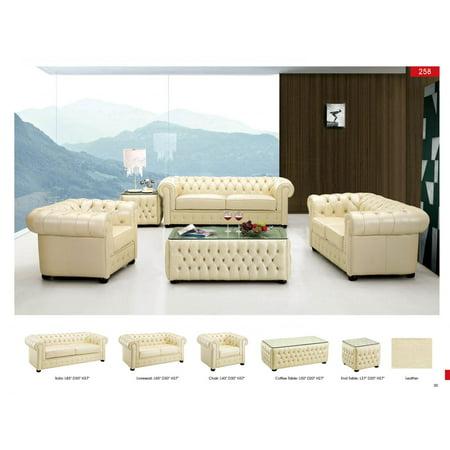 Strange Esf 258 Modern Ivory Finest Genuine Italian Leather Sofa Loveseat And Chair Set Short Links Chair Design For Home Short Linksinfo