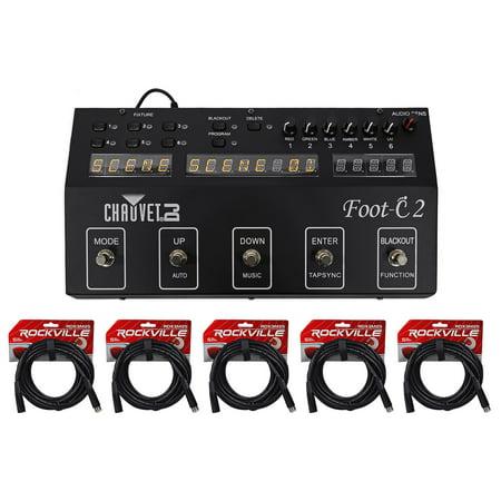 Chauvet DJ Foot C-2 36-Channel DMX Foot Controller w/MIDI Input w/Display+Cables