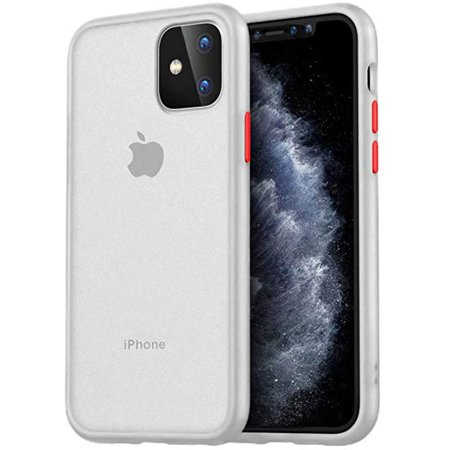 iPhone 11 Case,Screen Protector,FUJICAR Translucent Matte Hard Cover with Soft Edges,Anti Drop Shockproof Anti Scratch Frosted Protective Phone Case Cover for iPhone 11 - image 1 de 5