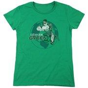 Green Lantern Easy Being Green Womens Short Sleeve Shirt