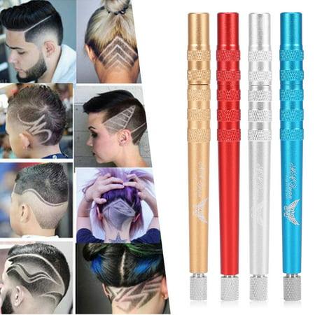 WALFRONT 4 couleurs professionnel barbe à sourcils cheveux style gravure de rasoir gravure stylo de coiffure, rasoir gravé, stylo de coiffure - image 5 de 9