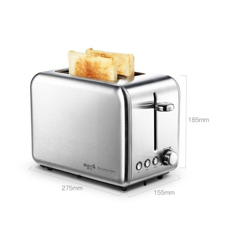 Xiaomi Deerma Bread Baking Machine Electric Toaster Household Automatic Breakfast Toast Sandwich Maker Reheat Kitchen Grill Oven Stainless Steel - image 6 of 7