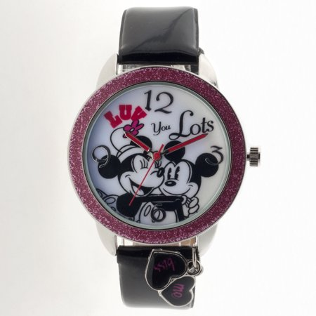 Minnie Mouse Women's Analog Watch, Black