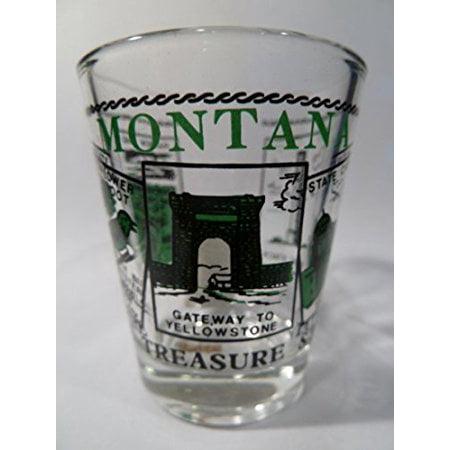 Montana Scenery Green Shot Glass