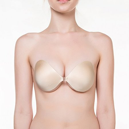The Seamless Push Up 2 Adhesive Bra #SE998,D