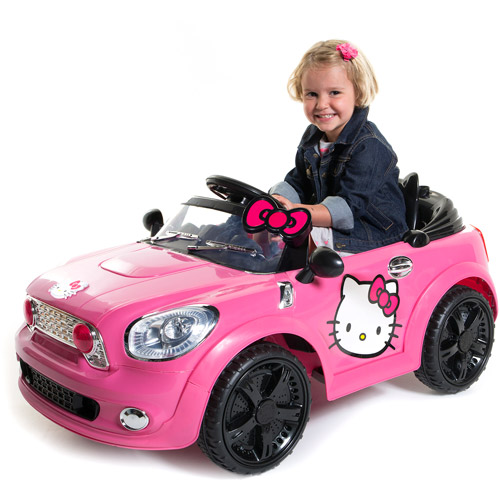 Pink toy cars for kids to drive