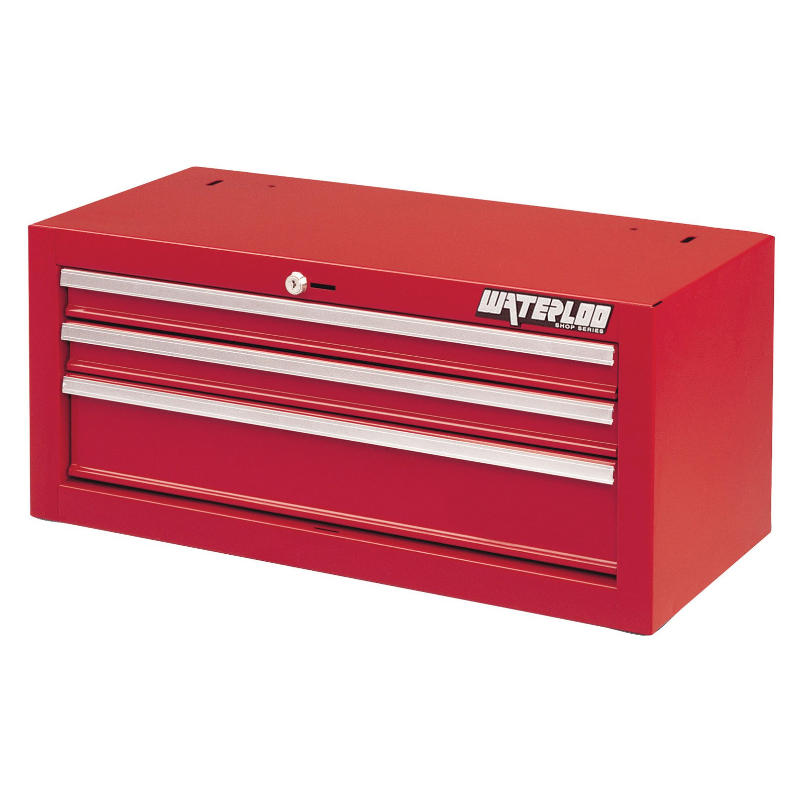 Waterloo Shop Series 26 in. Red 3 Drawer Intermediate Chest