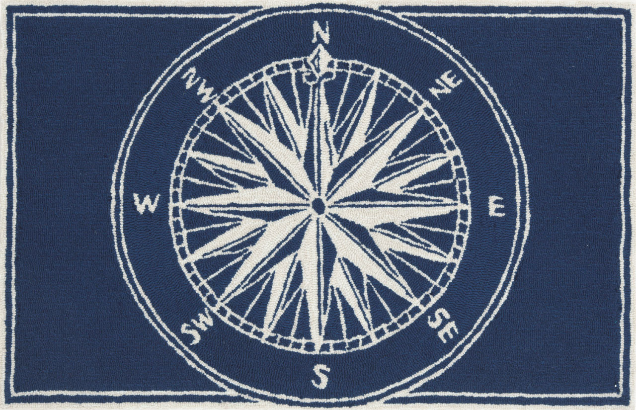 Trans-Ocean Rug Frontporch Compass Doormat by Supplier Generic
