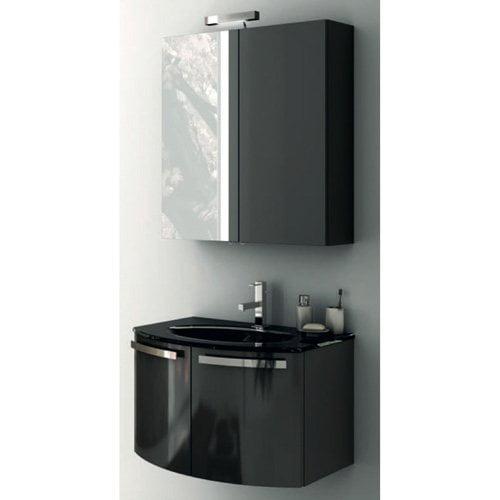 ACF by Nameeks ACF CD02-GA Crystal Dance 28-in. Single Bathroom Vanity Set - Glossy Anthracite