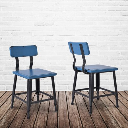 Awesome Williston Forge Bozarth Industrial Dining Chair Set Of 2 Alphanode Cool Chair Designs And Ideas Alphanodeonline