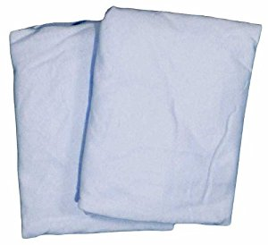Cradle 2 Pack Value Jersey Fitted Sheet Blue by American Baby Company