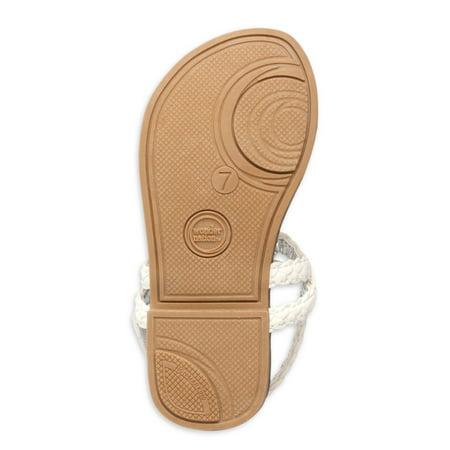 Wonder Nation Criss-Cross Braided Sandals (Toddler Girls)