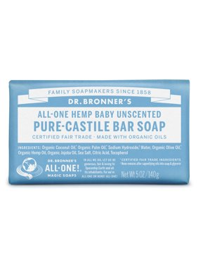 (2 pack) Dr. Bronner's Baby-Unscented Bar Soap