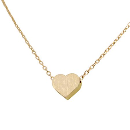 a8c96a6a1a Humble Chic NY - Tiny Heart Necklace - Delicate Dainty Pendant Chain Link  Mini Charm, Gold-Tone - Walmart.com