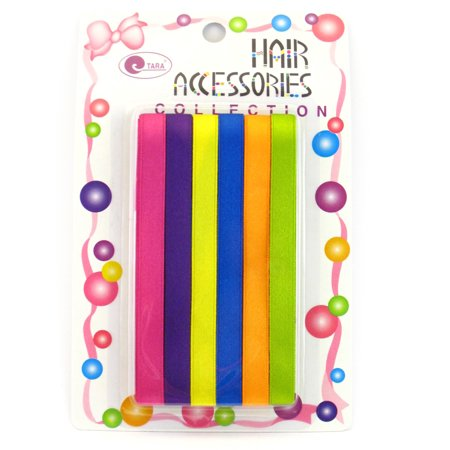 Tara Girls Hair Ribbons - 6 Pcs.