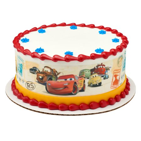 Excellent Cars Make Your Mark Edible Cake Image Strips Walmart Com Birthday Cards Printable Opercafe Filternl