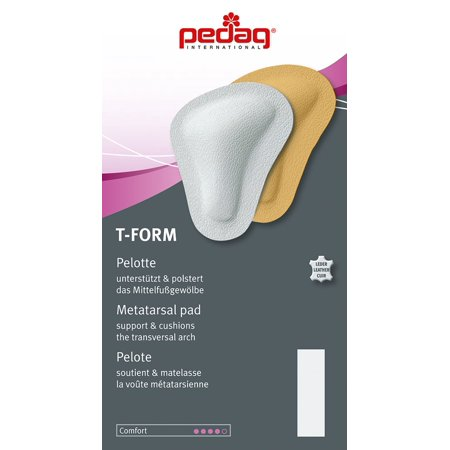 pedag® T-FORM Anatomically Correct Metatarsal Arch Pads to Lift and Shape, Leather, Medium (EU 38-40/ US (Best Pedag Insoles)