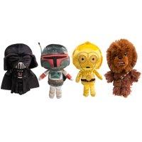 Star Wars Funko (Set of 4) Disney Galactic Plushies Cute Stuffed Animals Star Wars Plush Toys For Kids and Adults Darth Vader Chewbacca Boba Fett C3PO Star Wars Toys Set