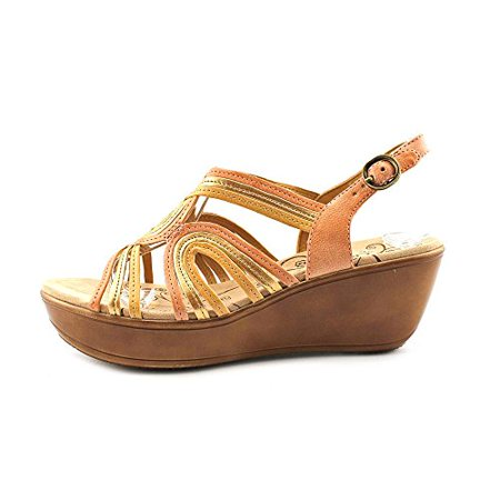 9a17bd3779 BareTraps - BareTraps Dangle Women's Strappy Wedge Sandals, Peach/Copper,  Size 8.0 6hH6 - Walmart.com