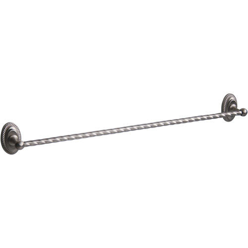 "Click here to buy Bradley 24"" Towel Bar, Brushed Satin Nickel by Elegant Home Fashions."