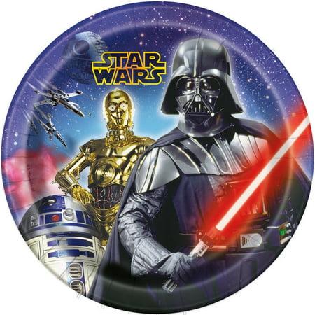 Star Wars 9 Inch Paper Plates [8 Per Pack] - Star Wars Paper Plates