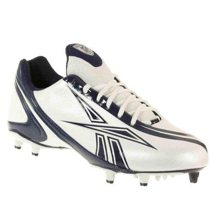 REEBOK MEN'S NFL BURNER SPEED LOW M3 WHITE ROYAL MOLDED FOOTBALL CLEATS 7.5 M