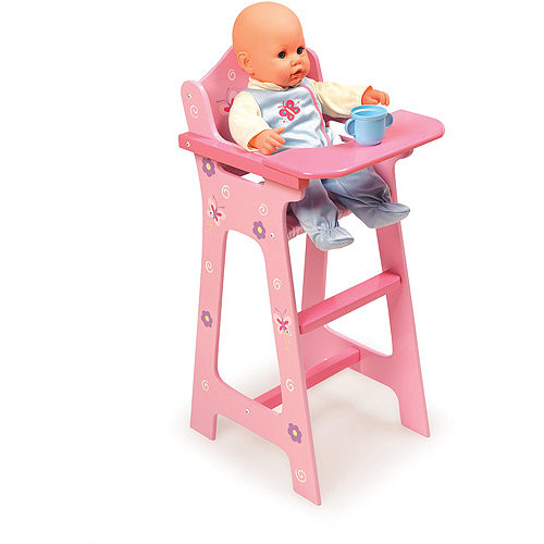 "Badger Basket Doll High Chair, Blossoms and Butterflies, Fits Most 18"" Dolls & My Life As"